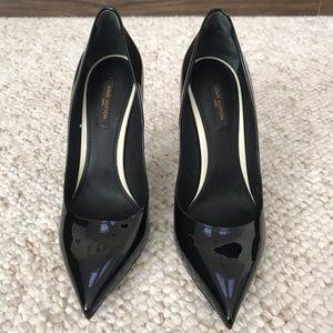 Louis Vuitton black patent leather pumps